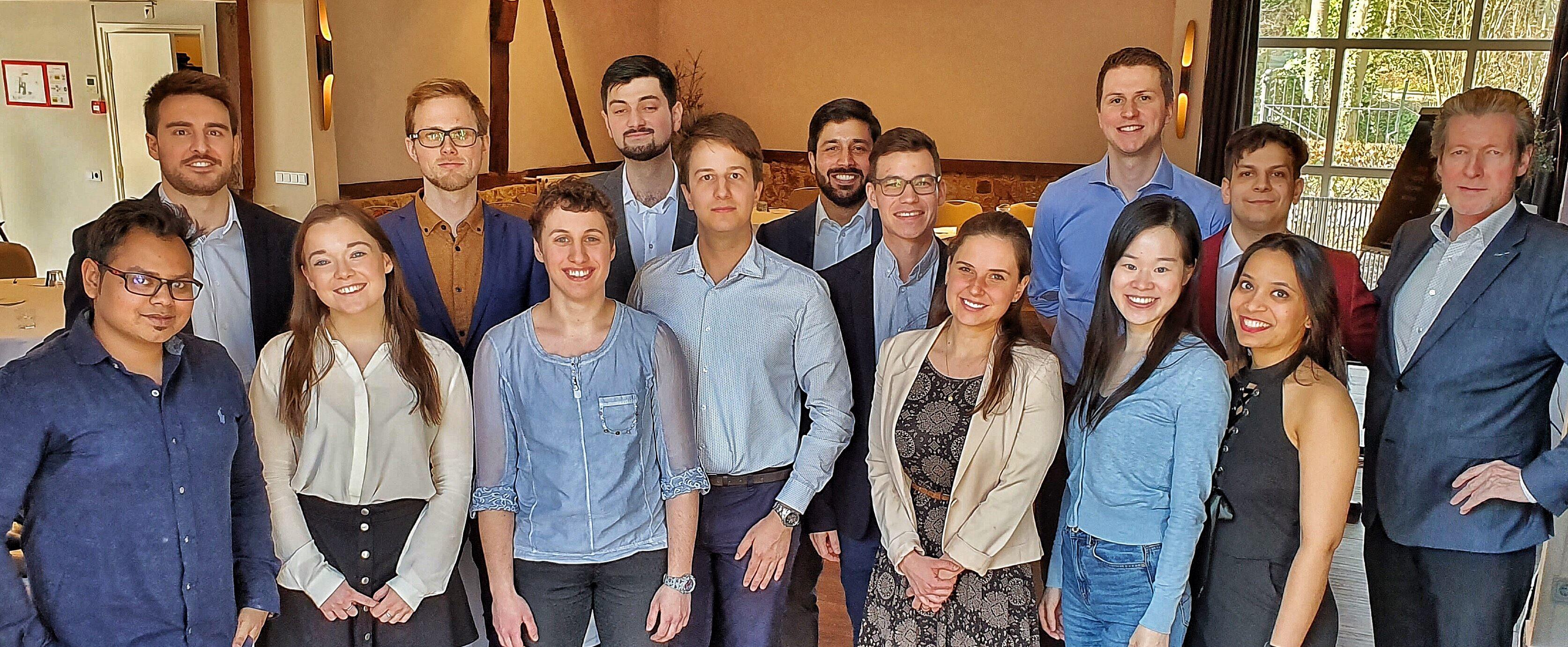 De PhD onderzoekers na hun videoregistratie